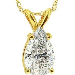 Jewelry - 1.5 Carat Pear Diamond Solitaire Pendant Necklace